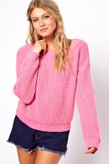 ASOS Collection Asos Rib Cropped Jumper - Lyst