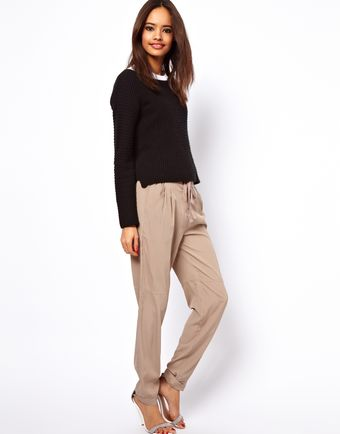 ASOS Collection Asos Peg Trouser with Waist Detail - Lyst