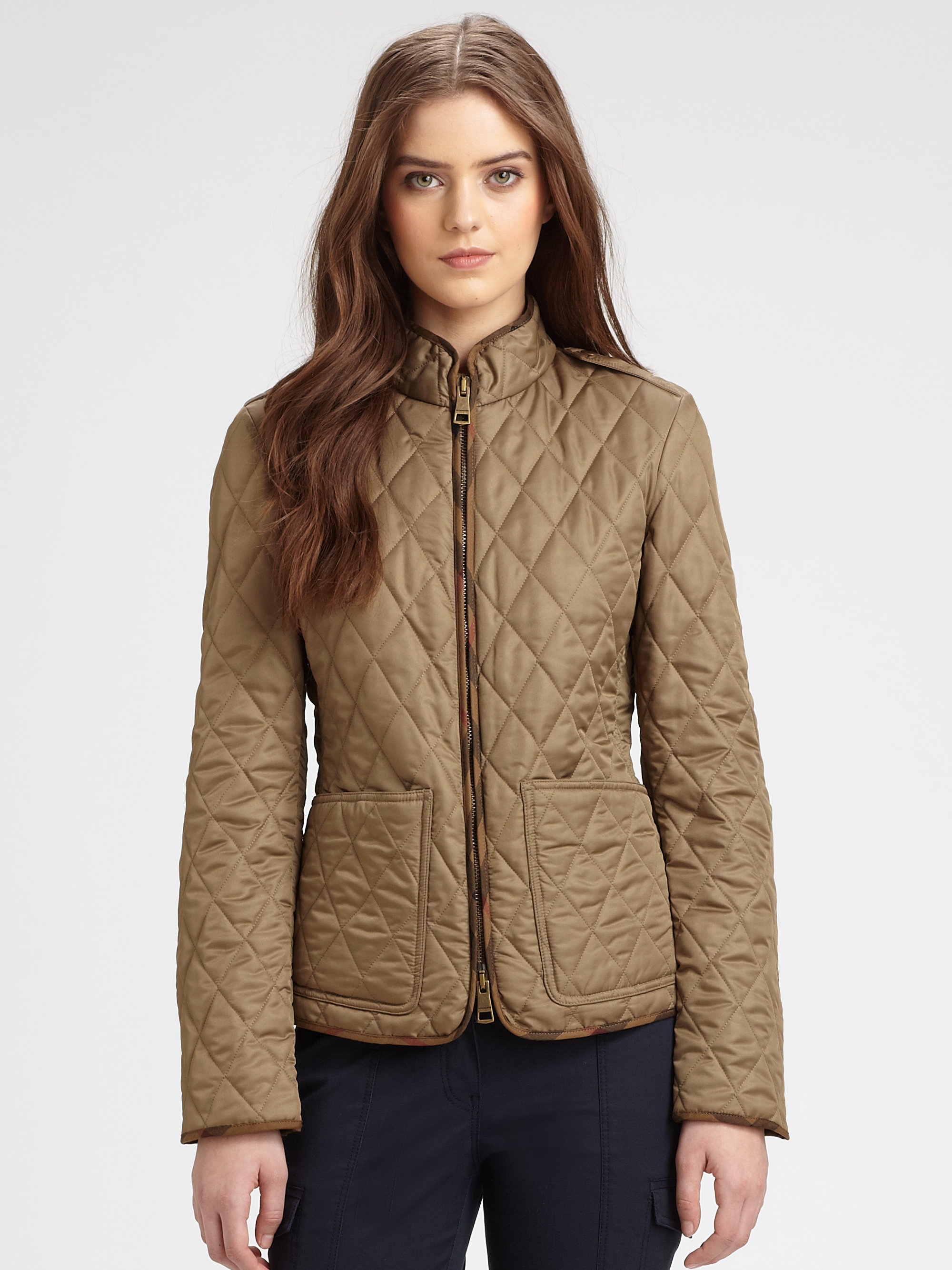 Lyst Burberry Brit Edgefield Quilted Jacket In Brown