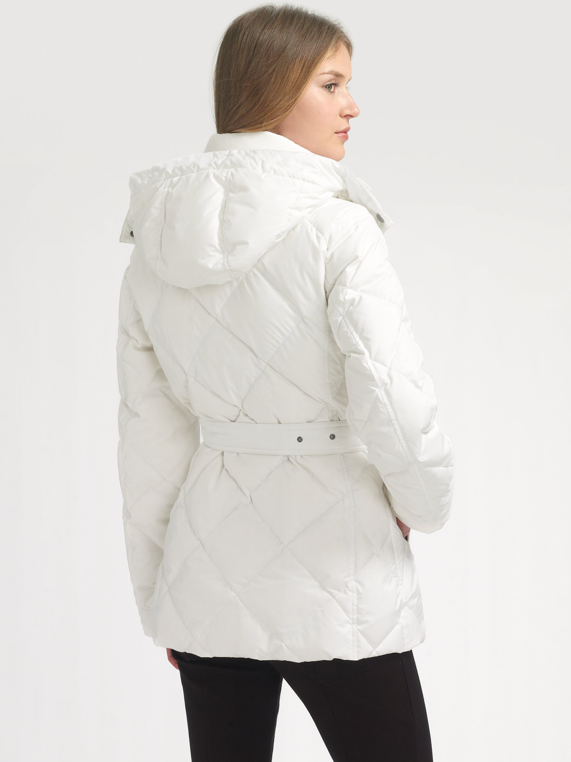 Lyst Burberry Brit Down Puffer Jacket In White