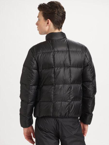 Burberry Sport Puffer Jacket In Black For Men Jet Lyst