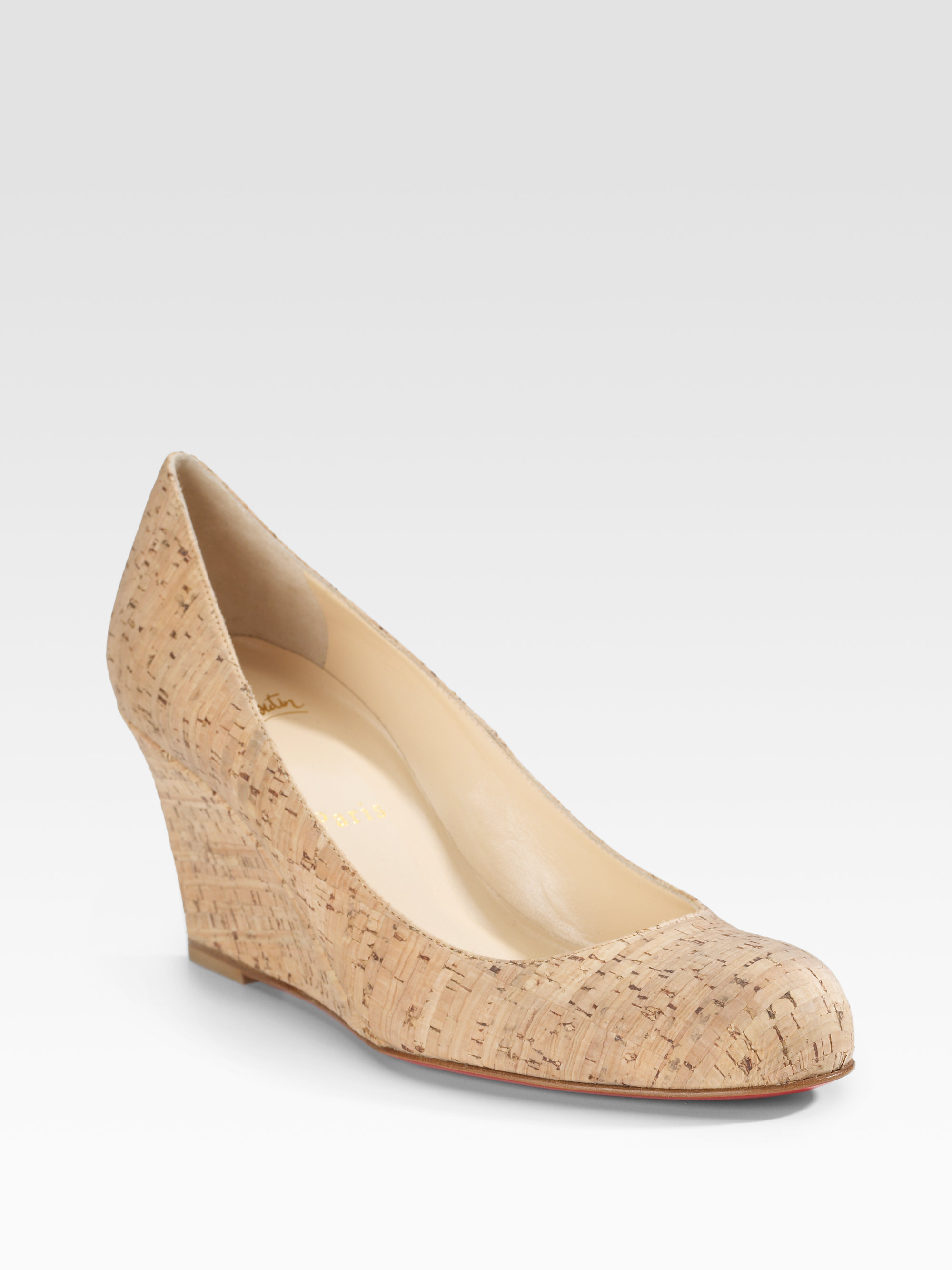 Christian Louboutin Round-Toe Cork Wedges buy cheap pick a best hot sale cheap online buy cheap new arrival the cheapest sale online 8rjZ9