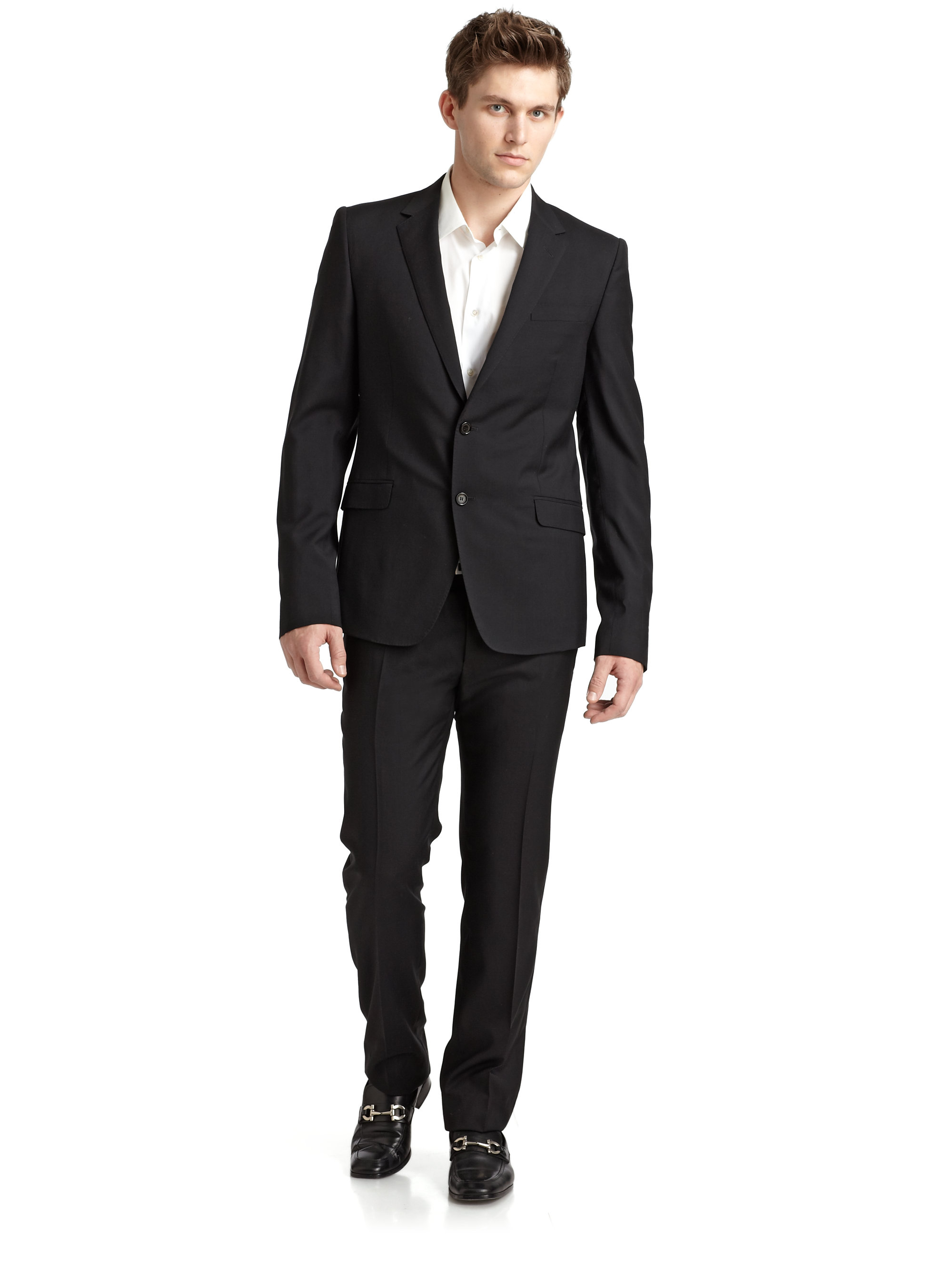 Costume national Wool Silk Suit in Black for Men | Lyst