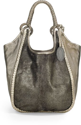 Elie Tahari Amelia Haircalf Shoulder Bag - Lyst