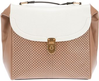Emporio Armani Perforated Shoulder Bag - Lyst