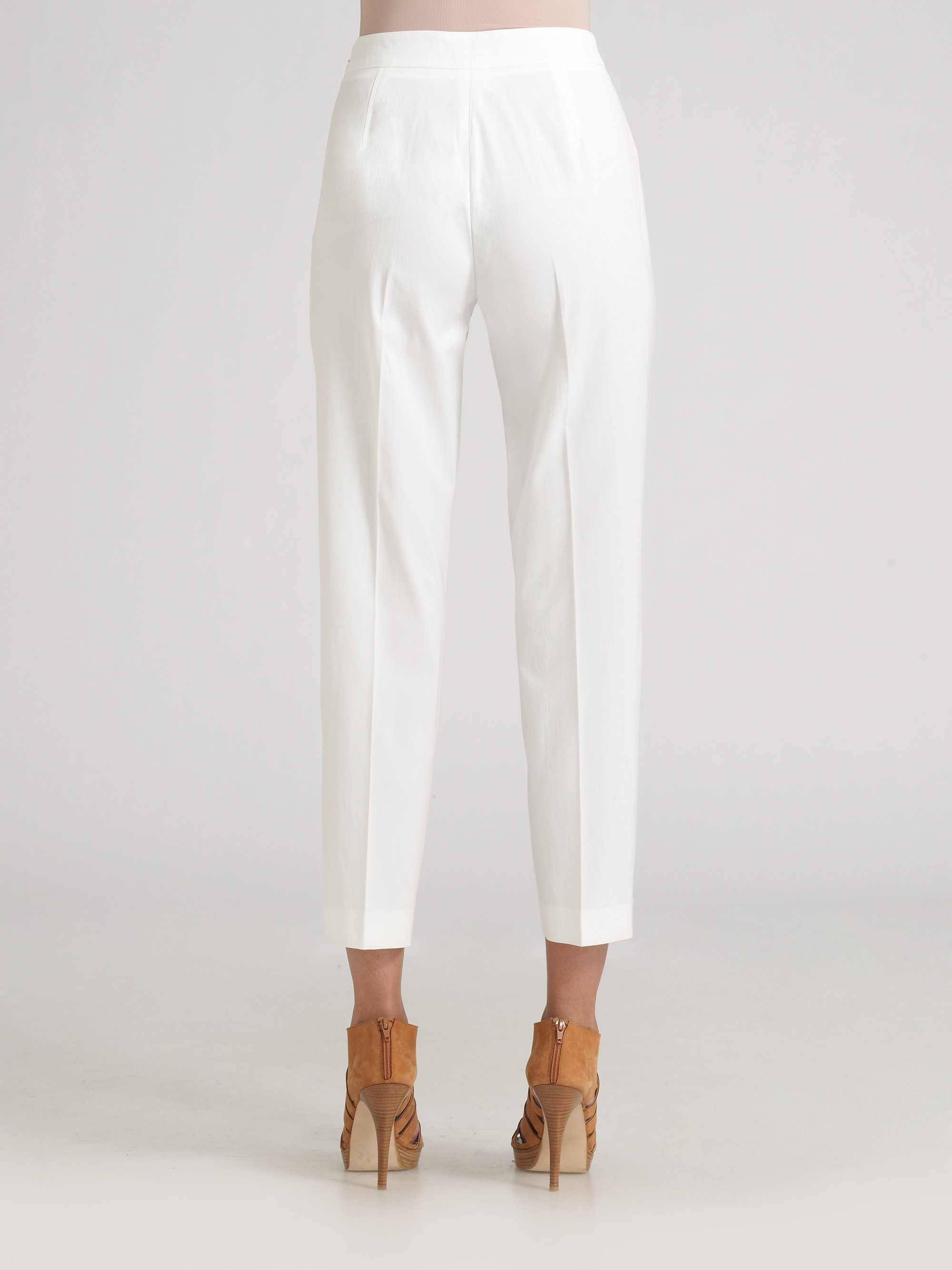 Etro Capri Pants in White | Lyst