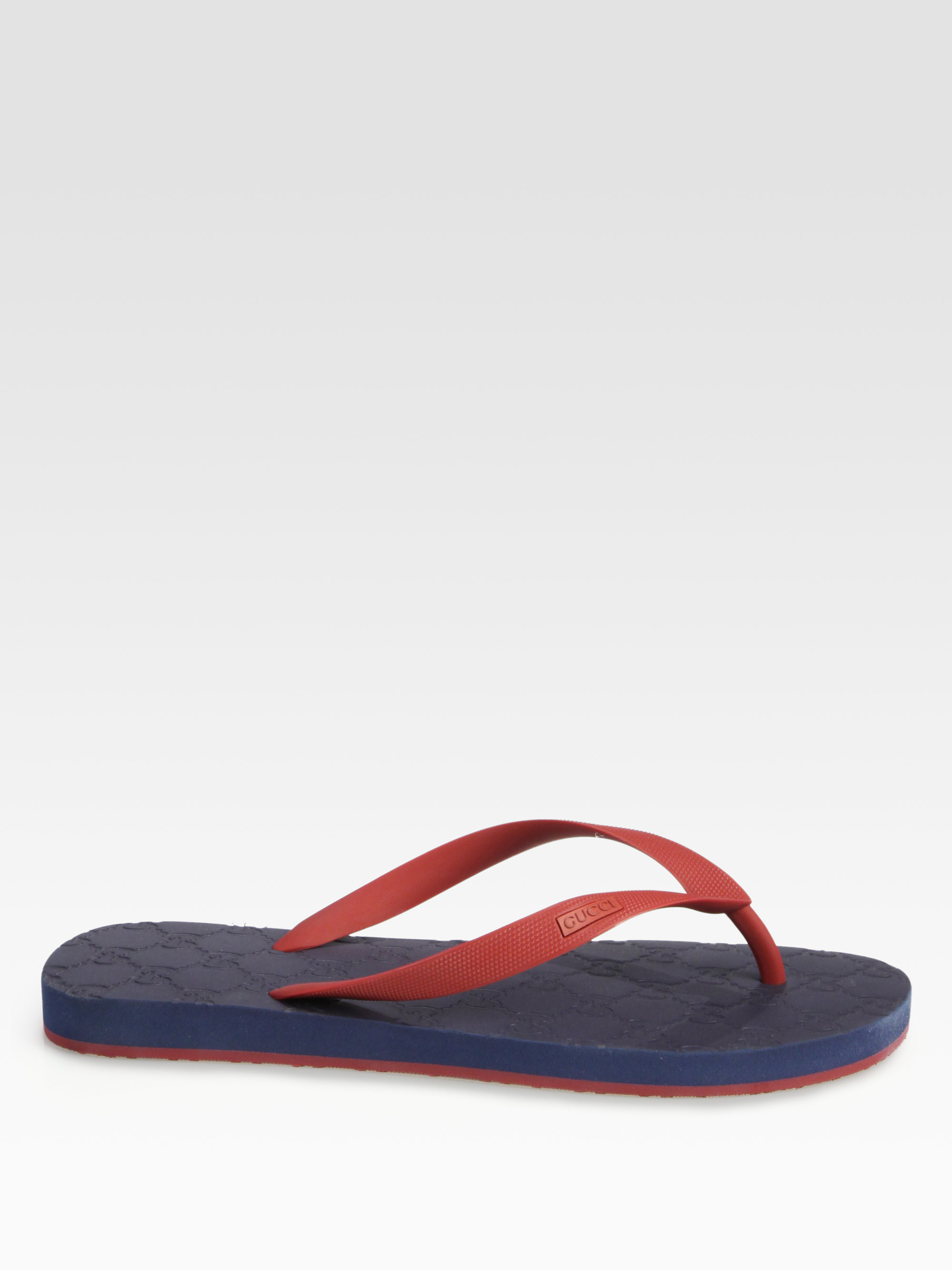 fb9810e88e0 Gucci Bedlam Logo Thong Sandal in Blue for Men - Lyst