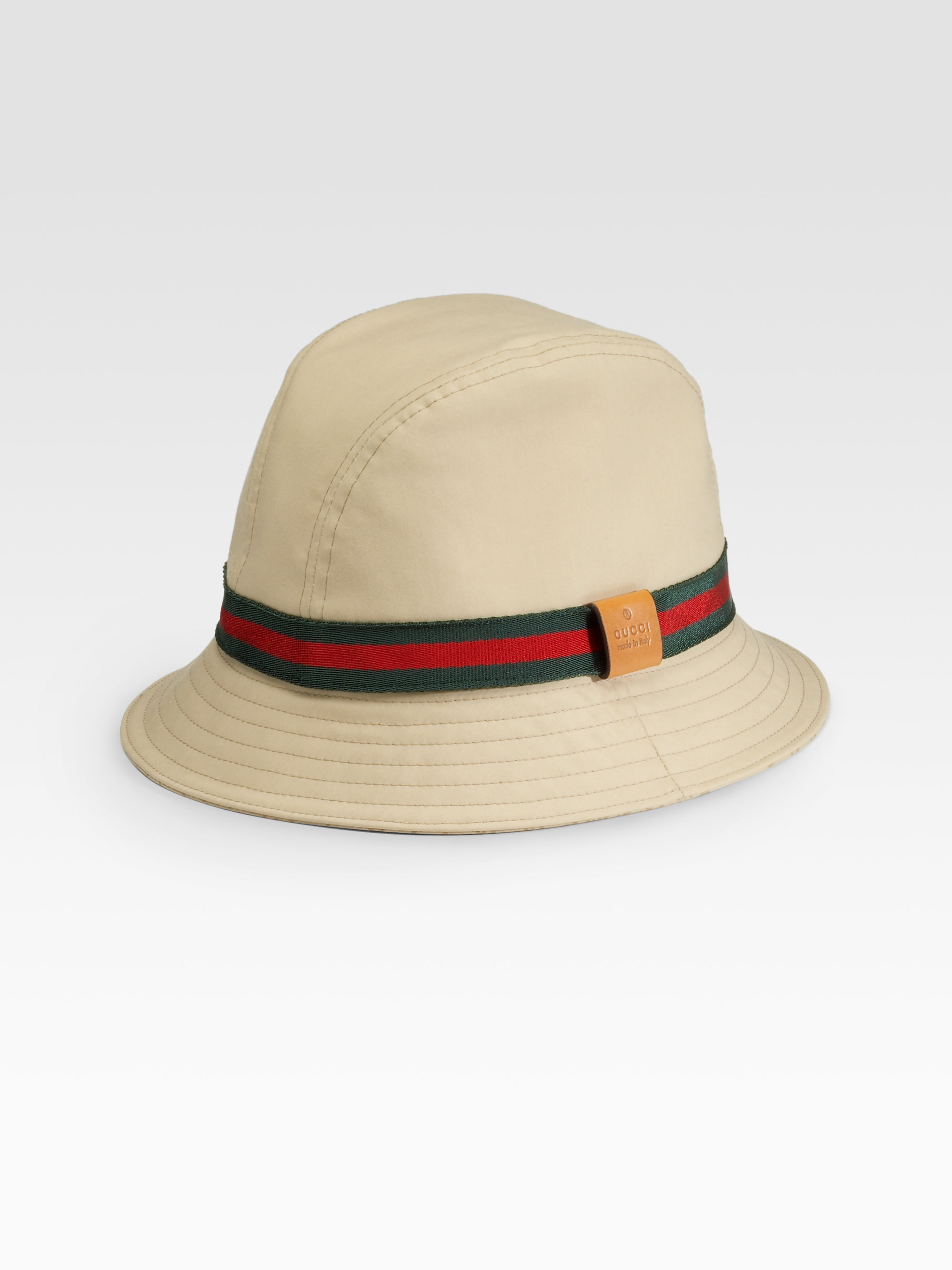 gucci bucket hat in natural for men lyst. Black Bedroom Furniture Sets. Home Design Ideas