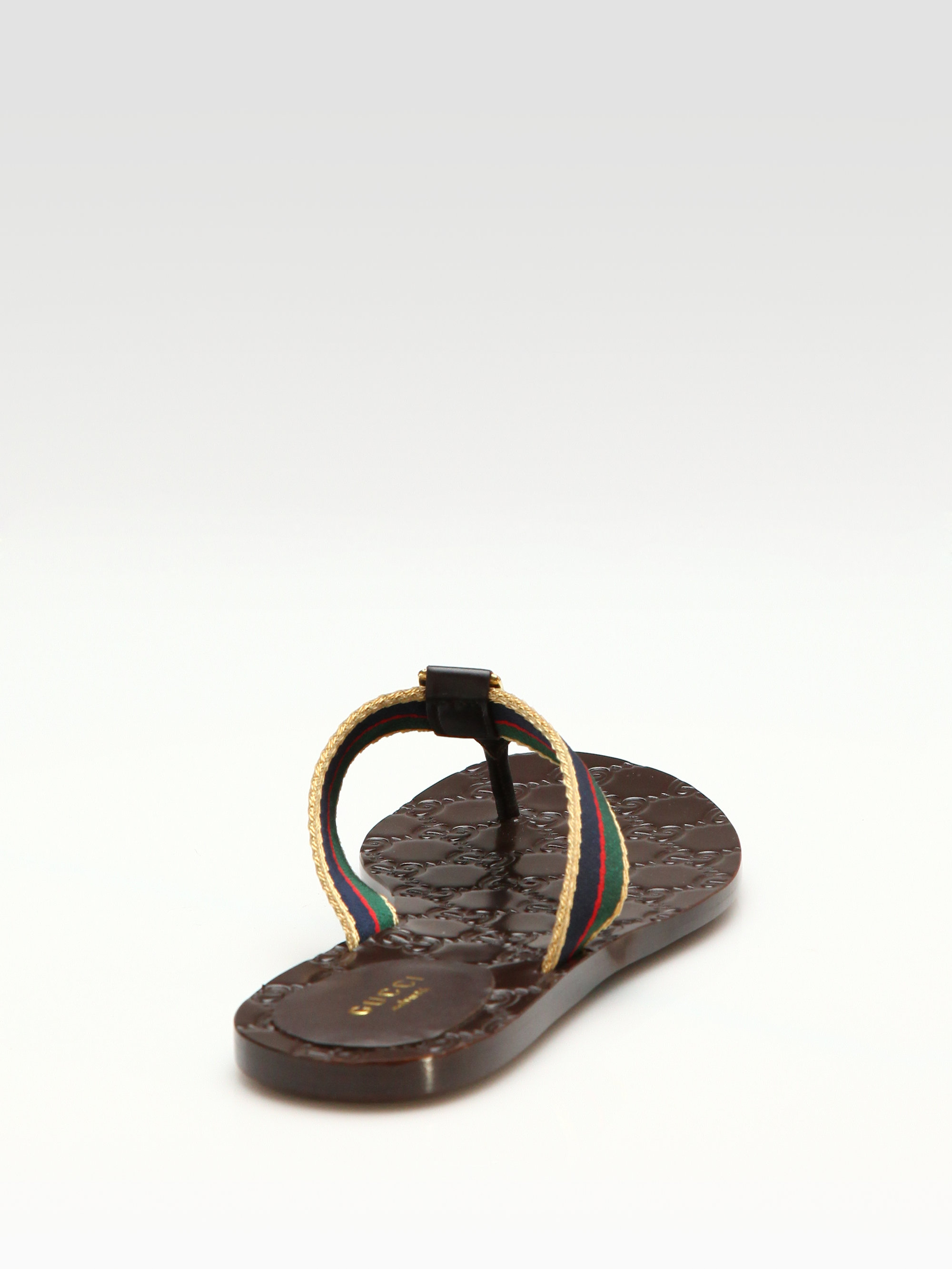 11fb6b932908 Lyst - Gucci Gg Thong Sandals in Brown