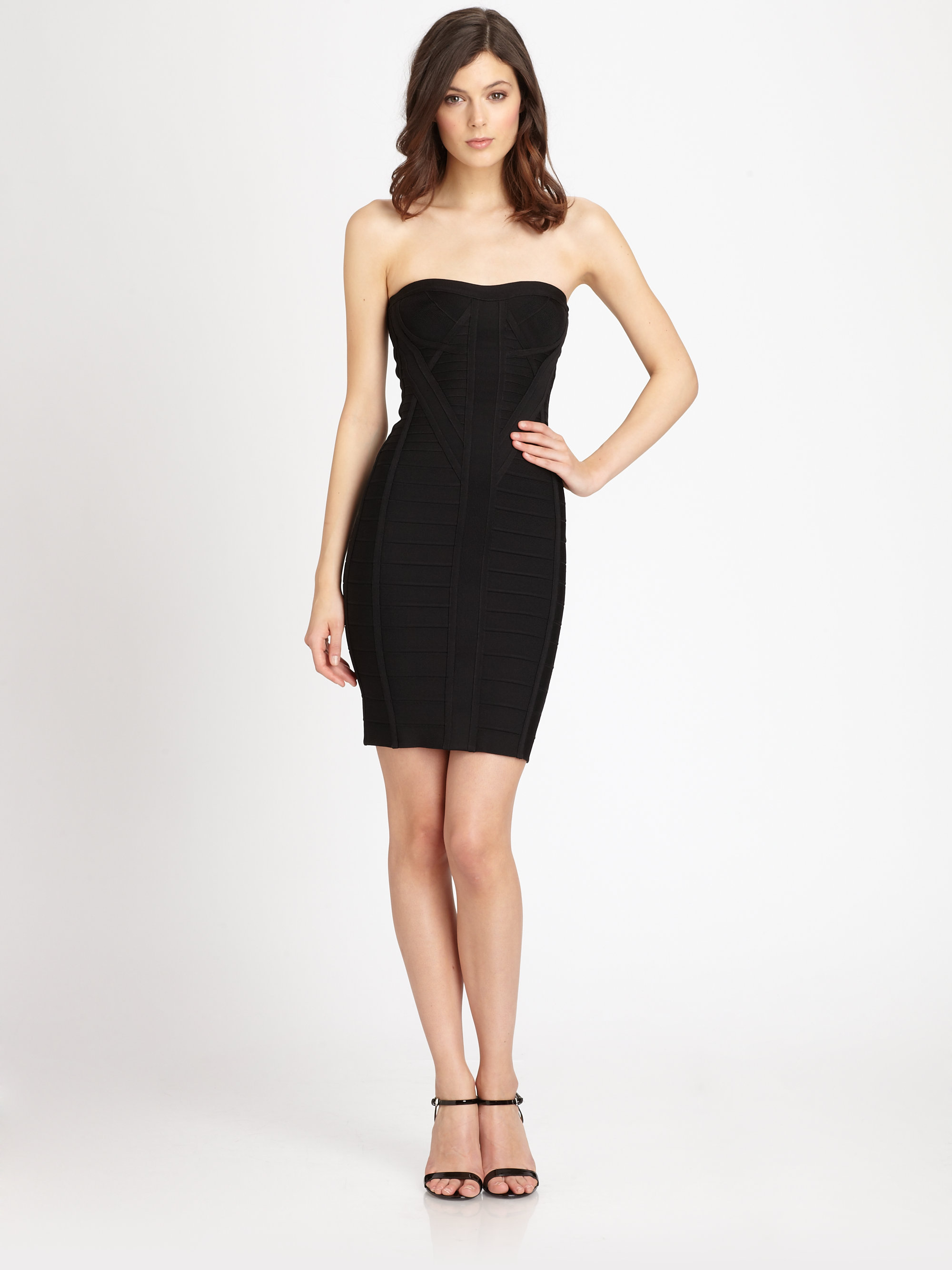 092732e9dc8c Gallery. Previously sold at  Saks Fifth Avenue · Women s Herve Leger Bandage  Women s Puff Sleeved Dresses ...