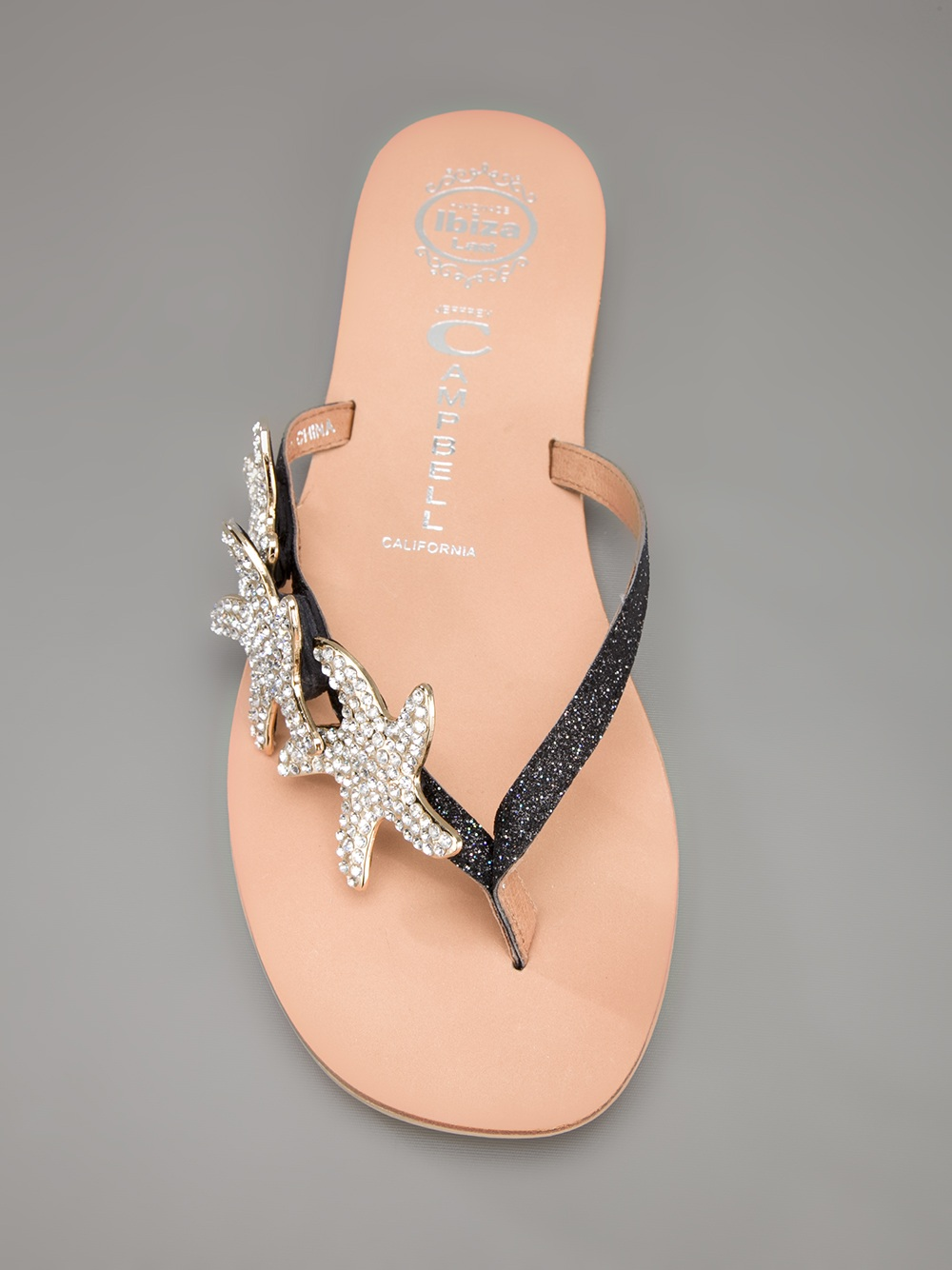 c36ae318125 Lyst - Jeffrey Campbell Starfish Flat Sandals in Metallic