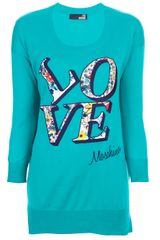 Love Moschino Printed Top - Lyst
