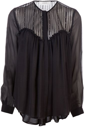 Lover Shadow Lace Blouse - Lyst