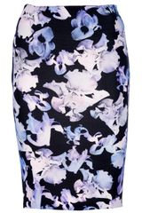 McQ by Alexander McQueen Floral Pencil Skirt - Lyst