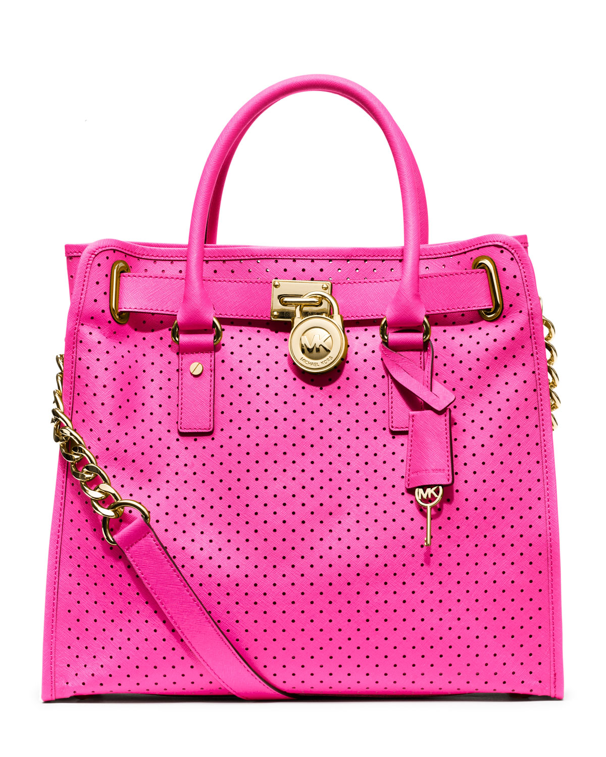 f879b3406b964d Michael Kors Large Hamilton Perforated Saffiano Tote in Pink - Lyst