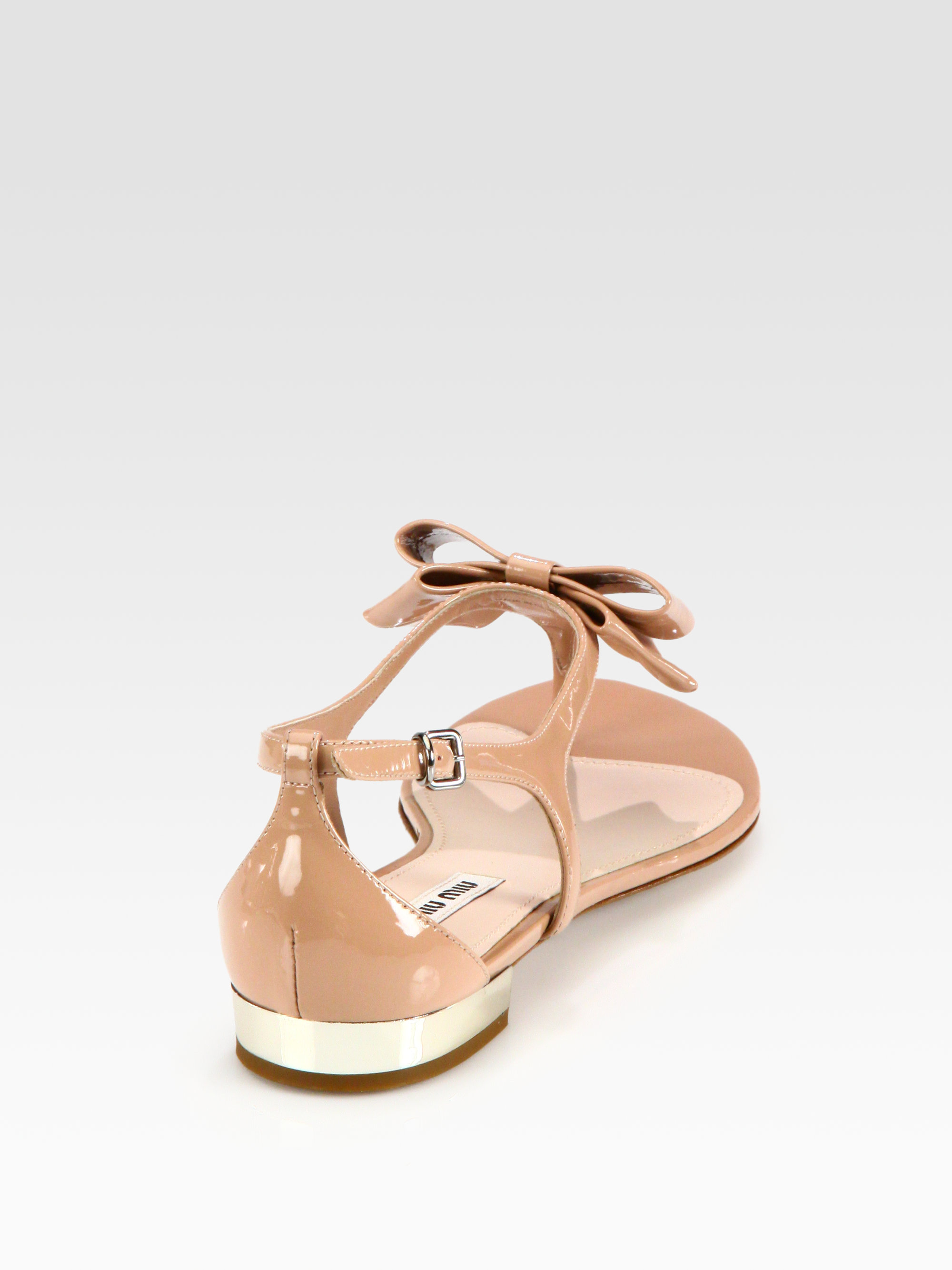 Classic Buy Cheap Outlet Store Miu Miu Patent leather slippers With Mastercard Sale Online Sale New ipUdXPjQSC