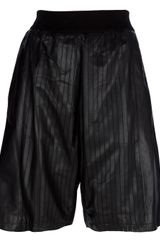 Neil Barrett Leather Shorts - Lyst