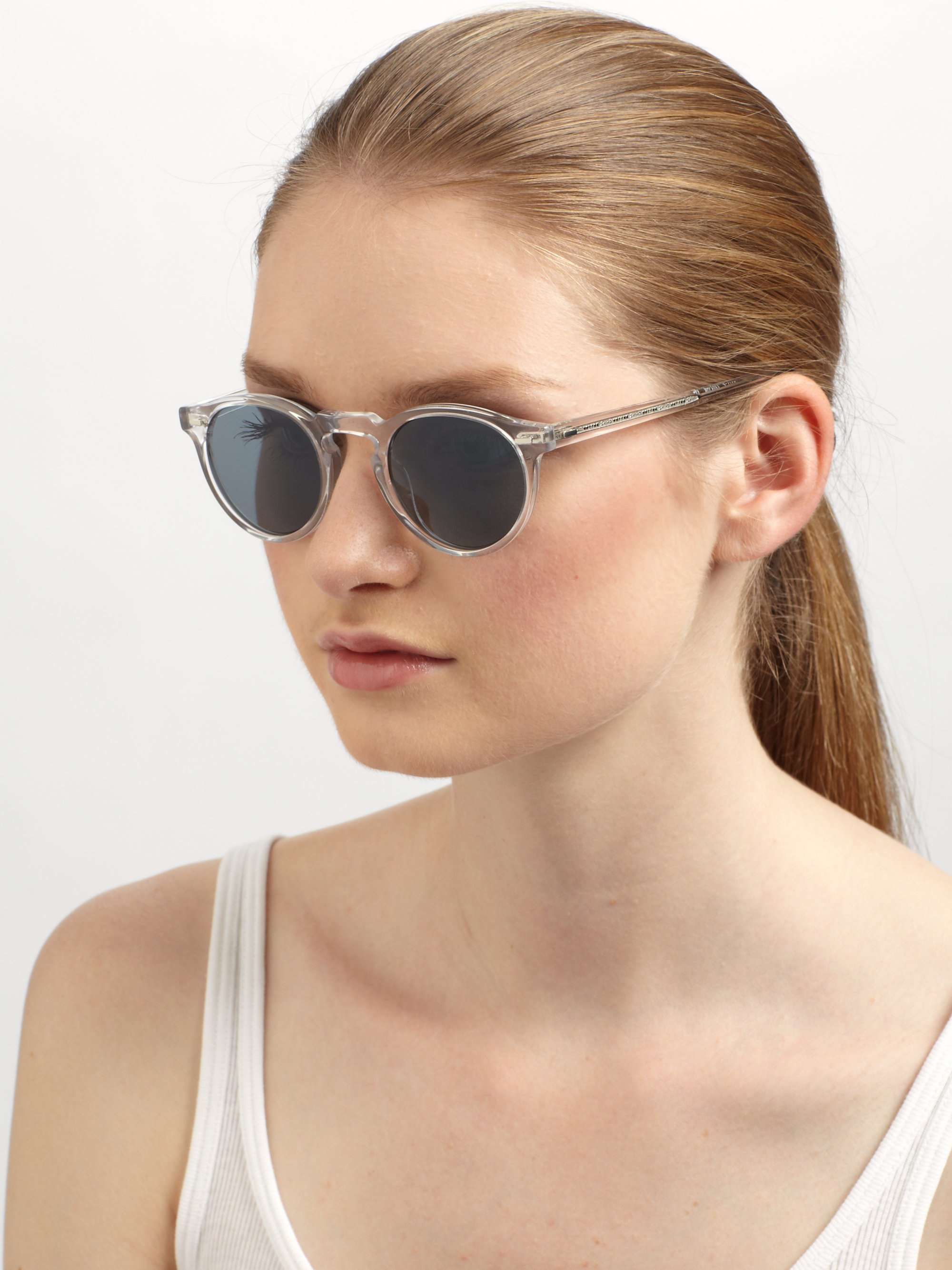 Gregory Peck Sunglasses  oliver peoples gregory peck oval plastic sunglasses crystal in