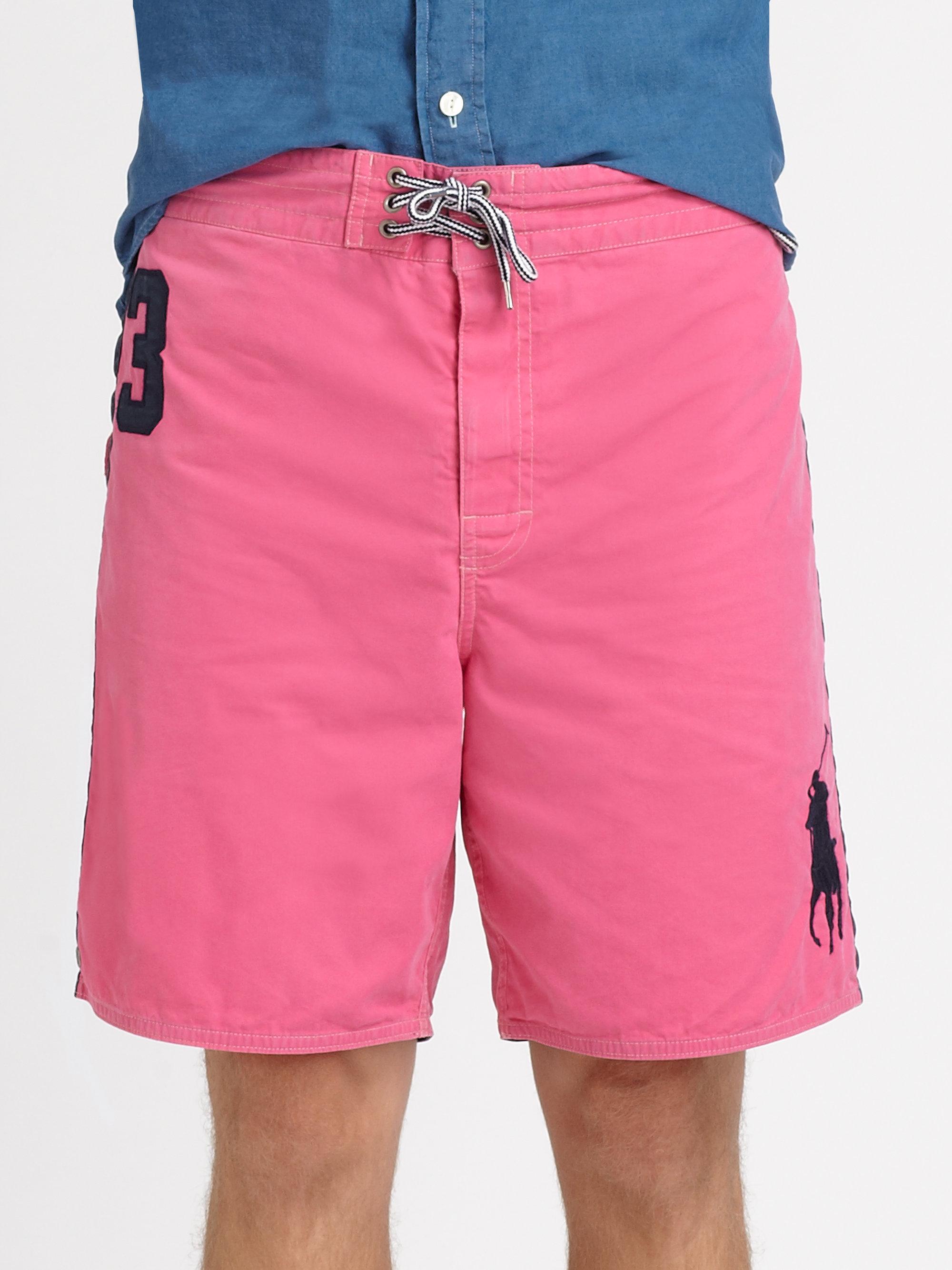 23f51b3573 ... discount code for lyst polo ralph lauren sanibel swim trunks in pink  for men 82cff 85644