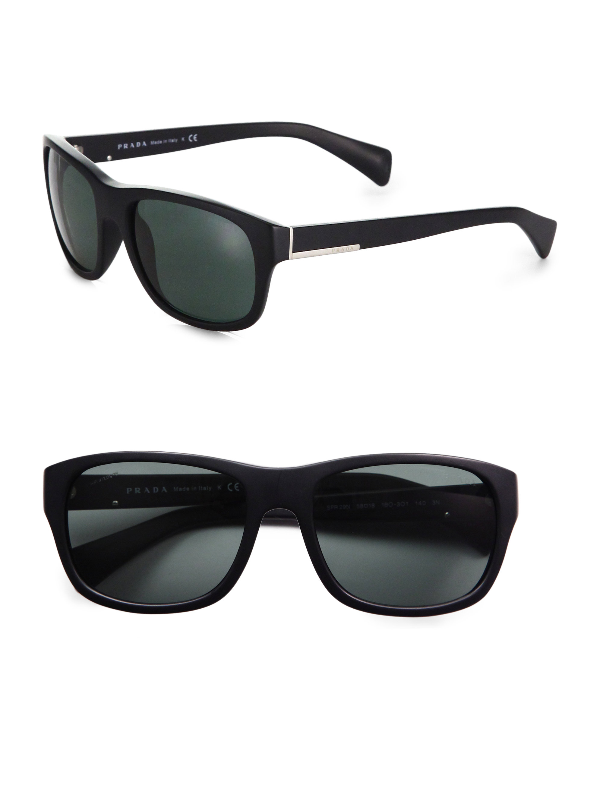 8c353da52762 ... uk lyst prada classic acetate sunglasses in black for men 06b32 7a219
