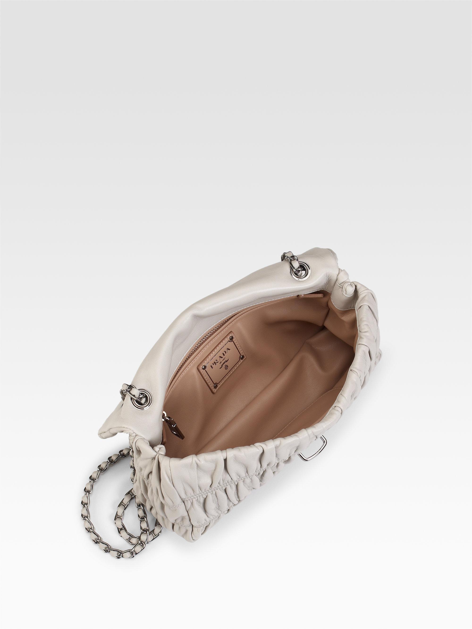 Prada Small Nappa Gaufre Mini Shoulder Bag in Black | Lyst