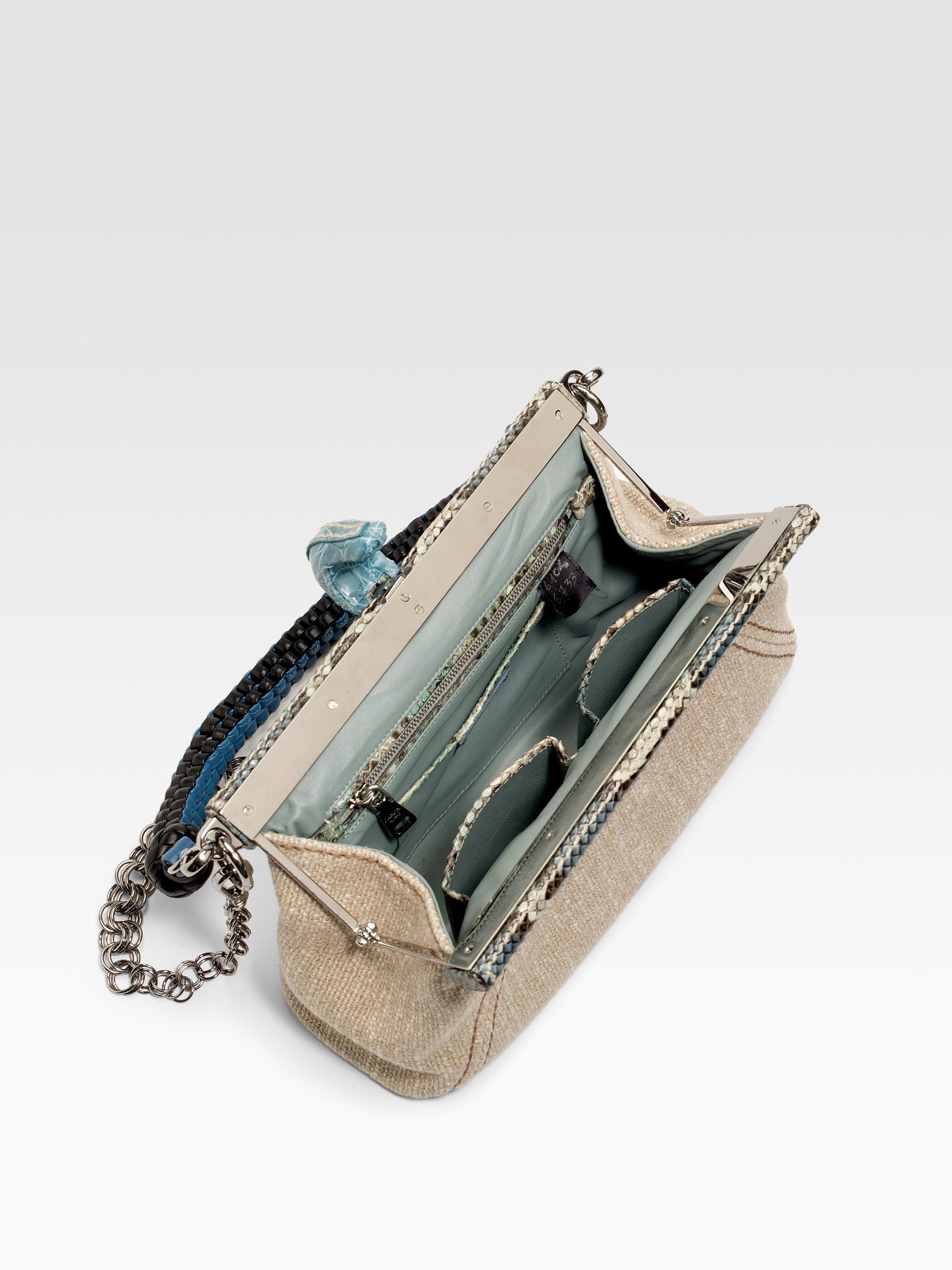 prada ostrich bag price - Prada Frame python and crocodile leather bag
