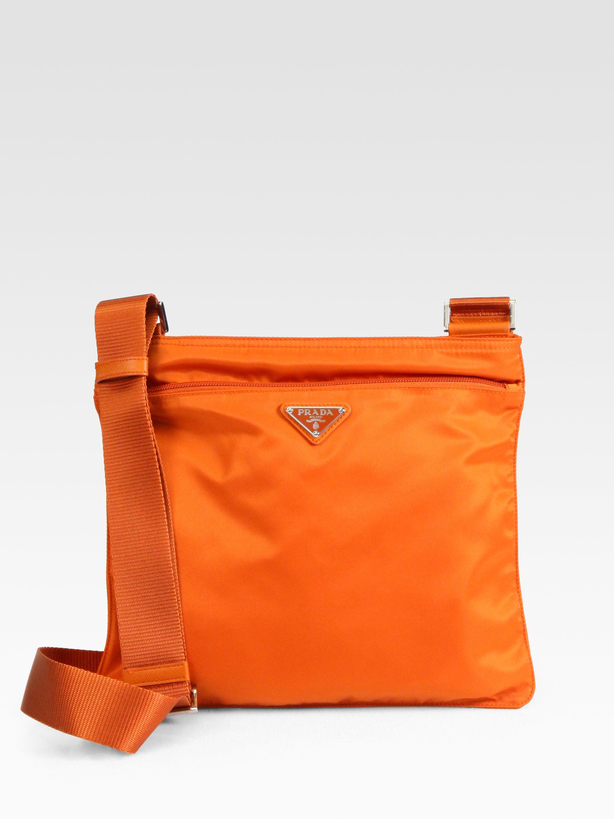 eb3f0e6f494f ... czech lyst prada vela large messenger bag in orange a3bd4 bde28