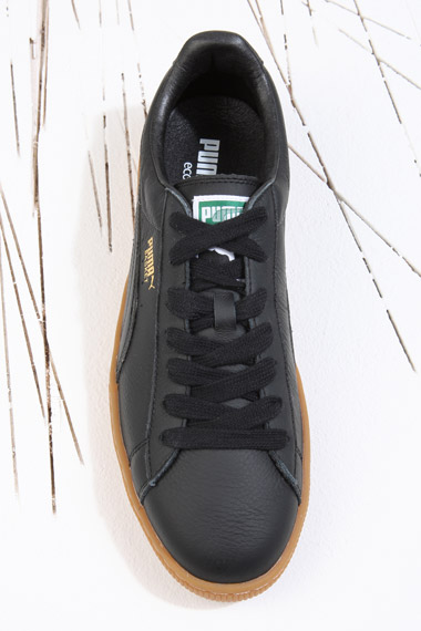 b49ce59fc4f8 PUMA Basket Black Gum Sole Leather Trainers in Black for Men - Lyst