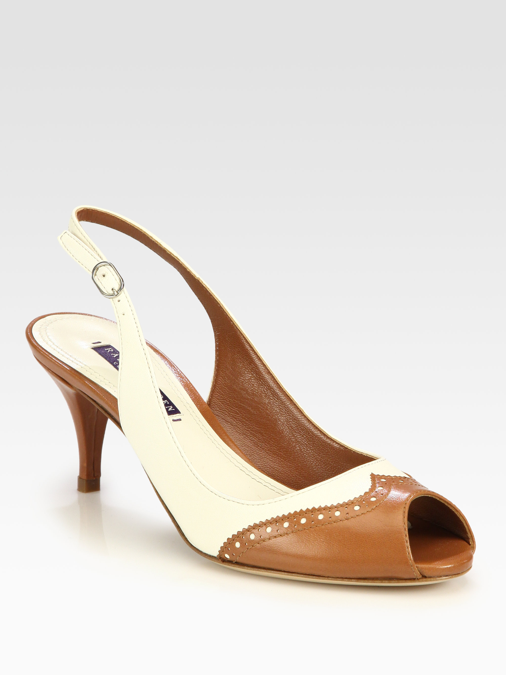 fake cheap price prices Lauren Ralph Lauren Embossed Slingback Pumps discount reliable ePFTOrOhGs