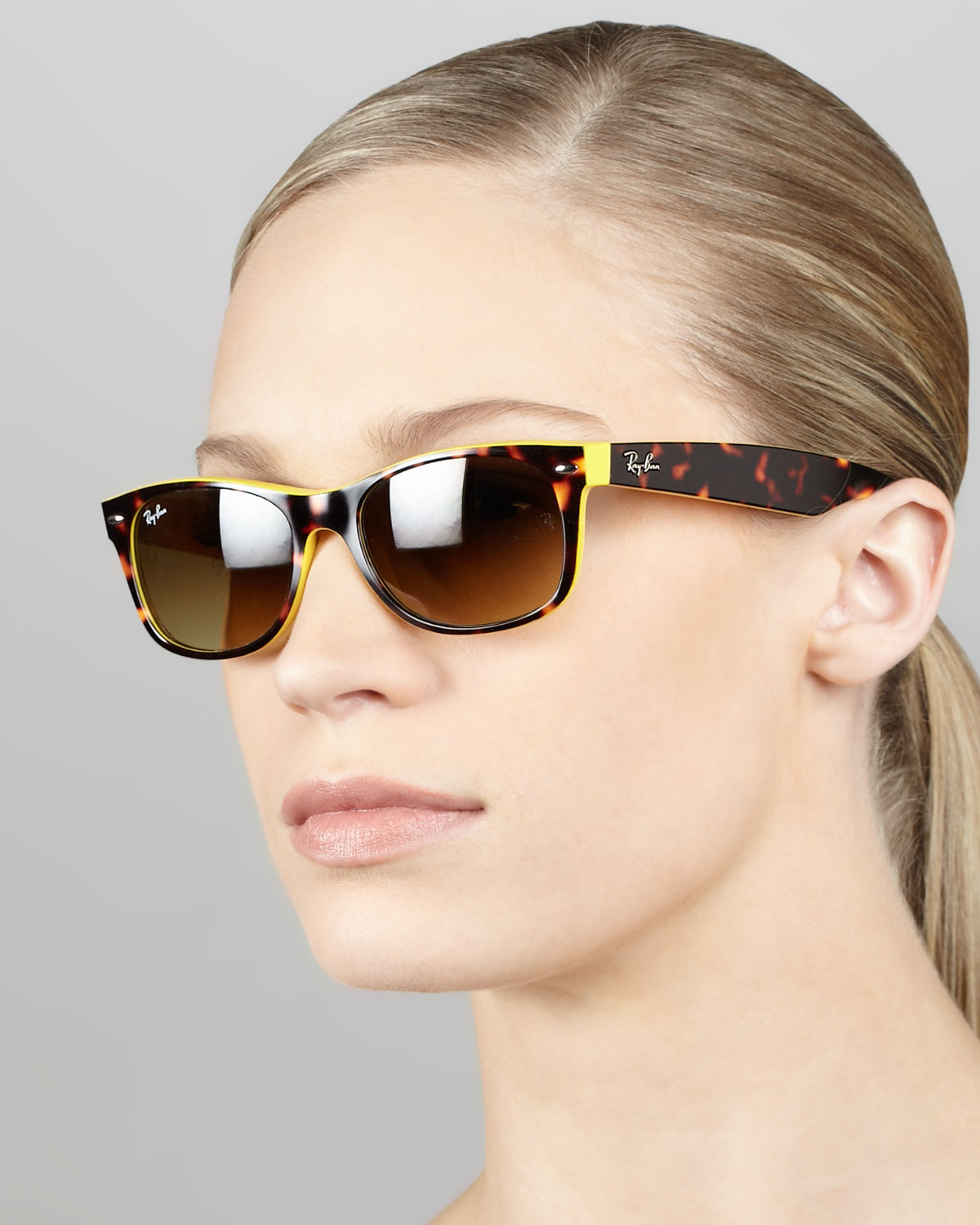 97f24a1ca Ray Ban Wayfarer Sunglasses Yellow And Black White Pattern ...