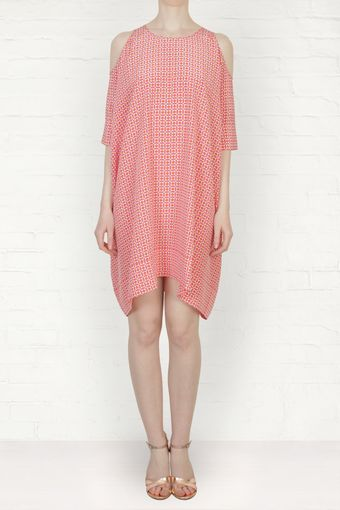 Richard Nicoll Geometric Print Cut Out Dress - Lyst