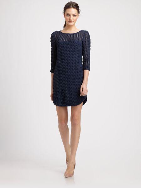 Sachin & Babi Dress Pointe Crochet with Wrap Back in Blue (navy crochet)