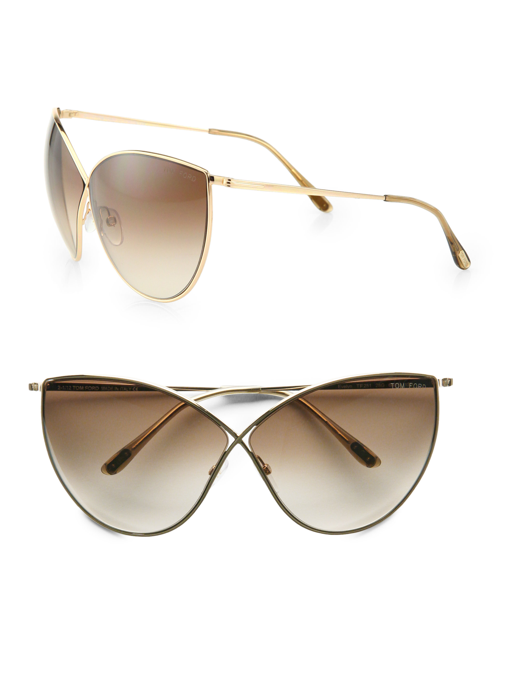9dec13b1b6 Gallery. Previously sold at  Saks Fifth Avenue · Women s Tom Ford Cat Eye  ...