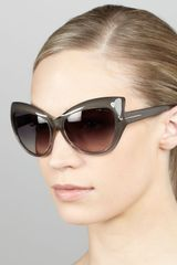 Tom Ford Bardot Sharp Cateye Sunglasses - Lyst