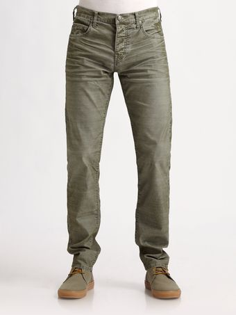 True Religion Slim Fit Fine Corduroy Pants - Lyst