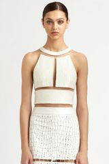 Alexander Wang Reptile Silk Illusion Crop Top