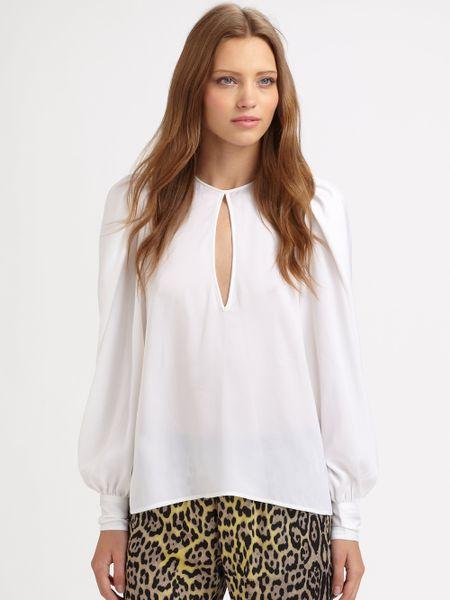 White Long Sleeve Blouses