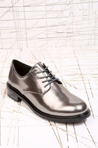 Cheap Monday Oxford Shoes In Silver In Silver | Lyst