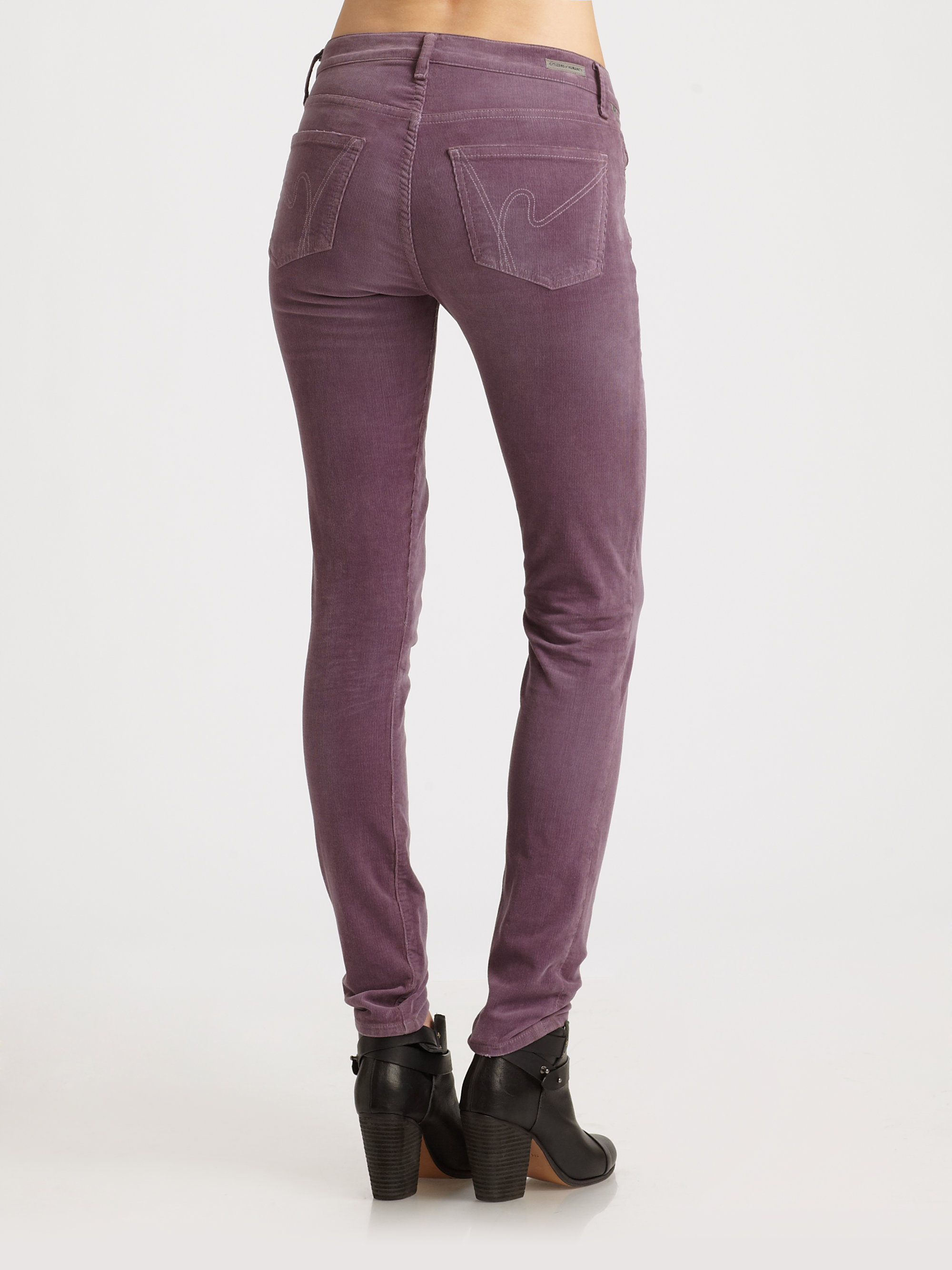 Citizens of humanity Luxury Corduroy Skinny Jeans in Purple  Lyst
