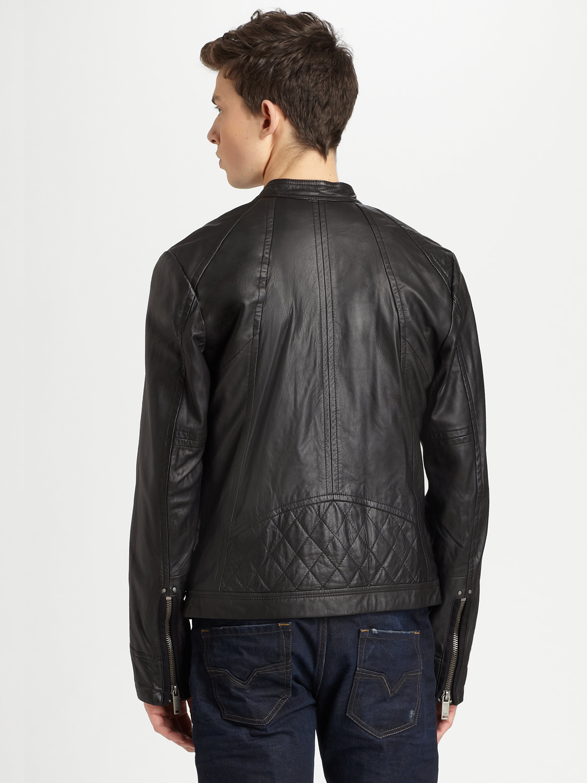 Diesel leide leather jacket