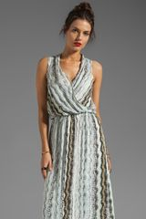 Ella Moss Zuma Print Maxi Dress in Neutral - Lyst
