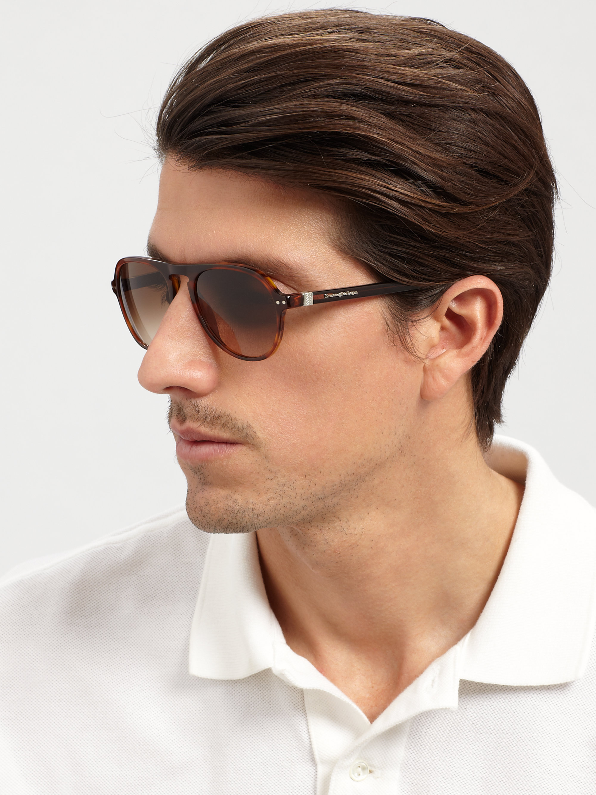 c018c533c84 Lyst - Ermenegildo Zegna Vintage Aviators in Brown for Men