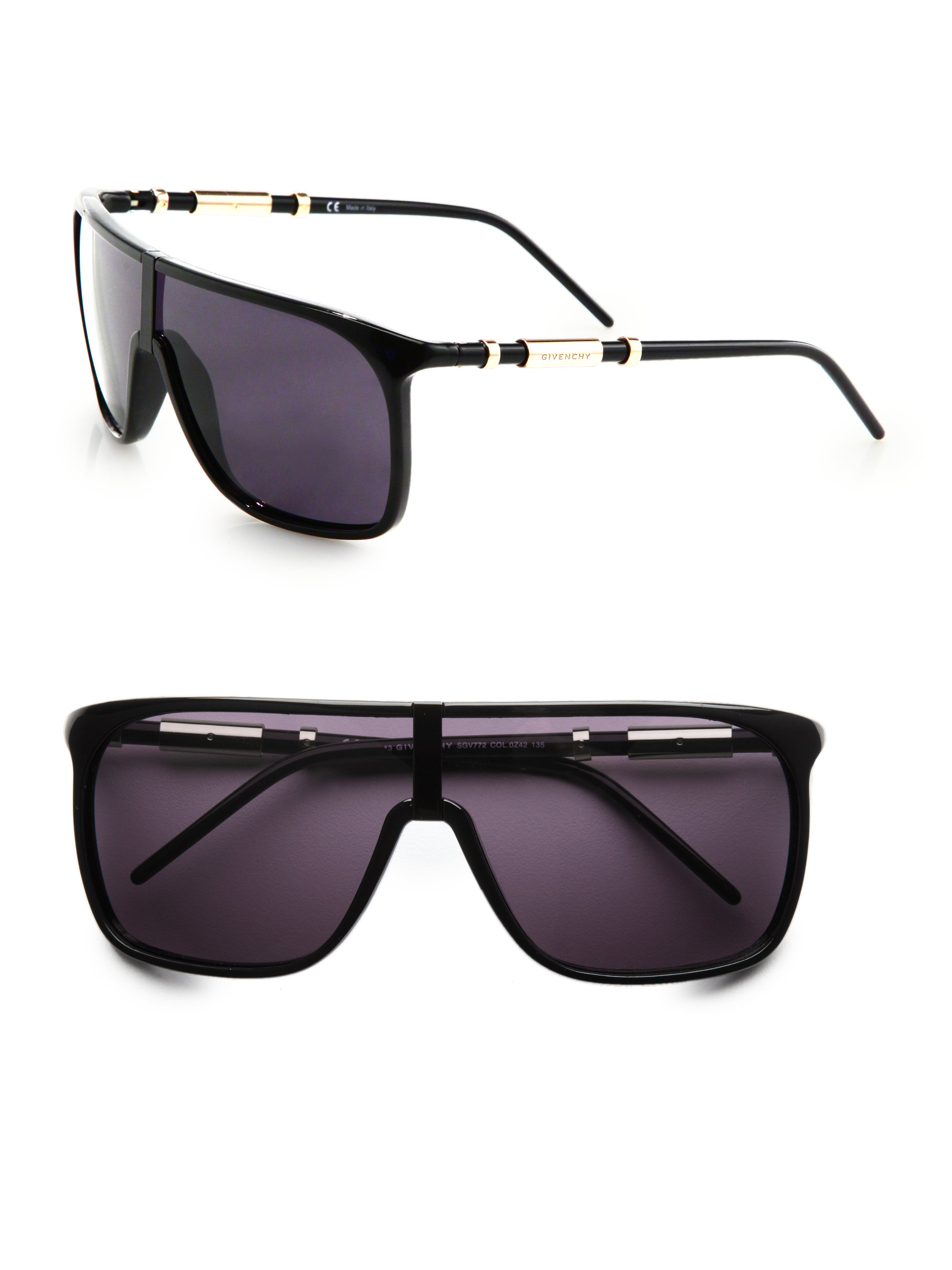 Givenchy Sunglasses Womens  givenchy resin shield sunglasses in black for men lyst
