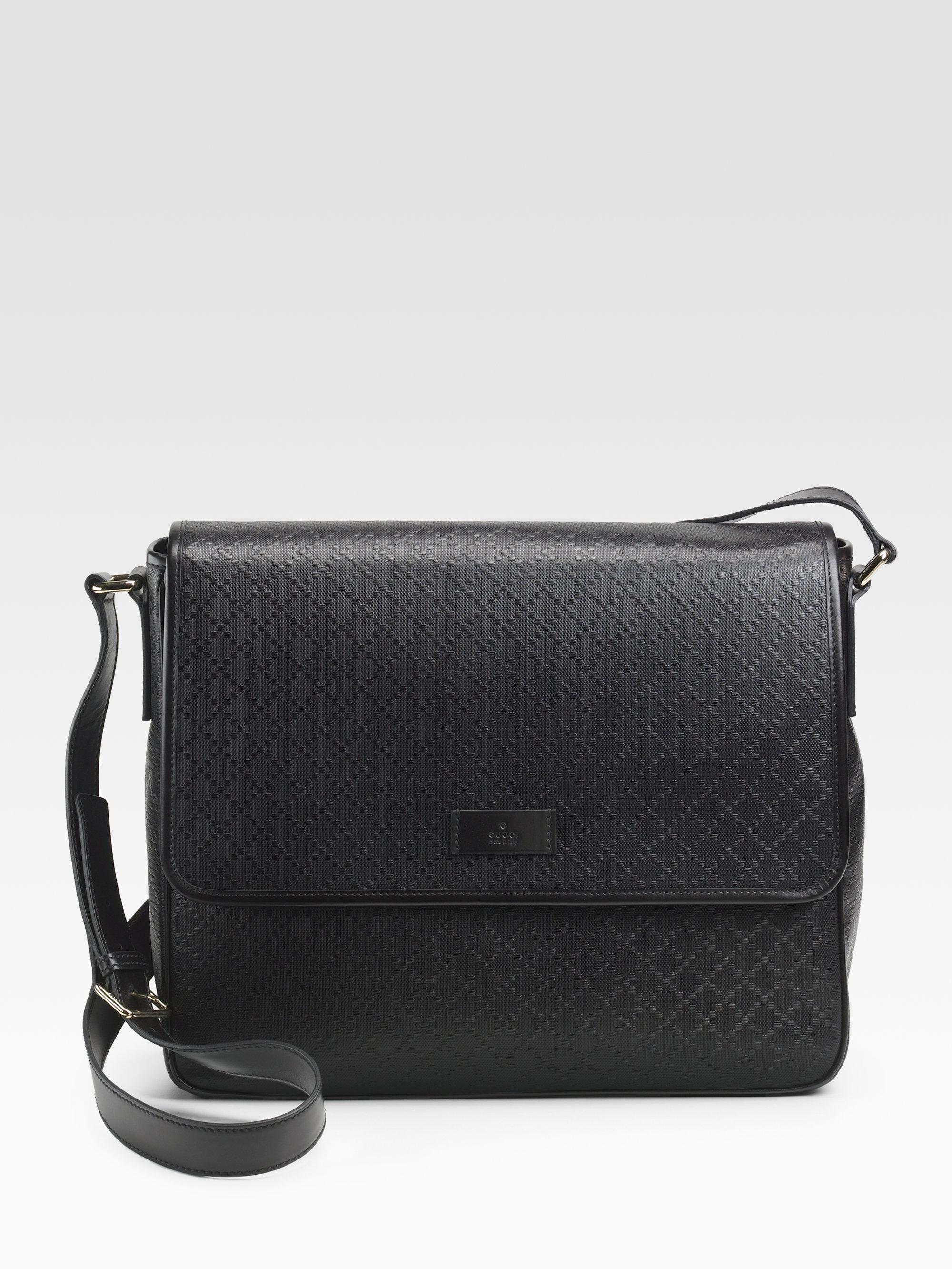 2dd772b2b17c19 Gucci Diamante Lux Messenger Bag in Black for Men - Lyst