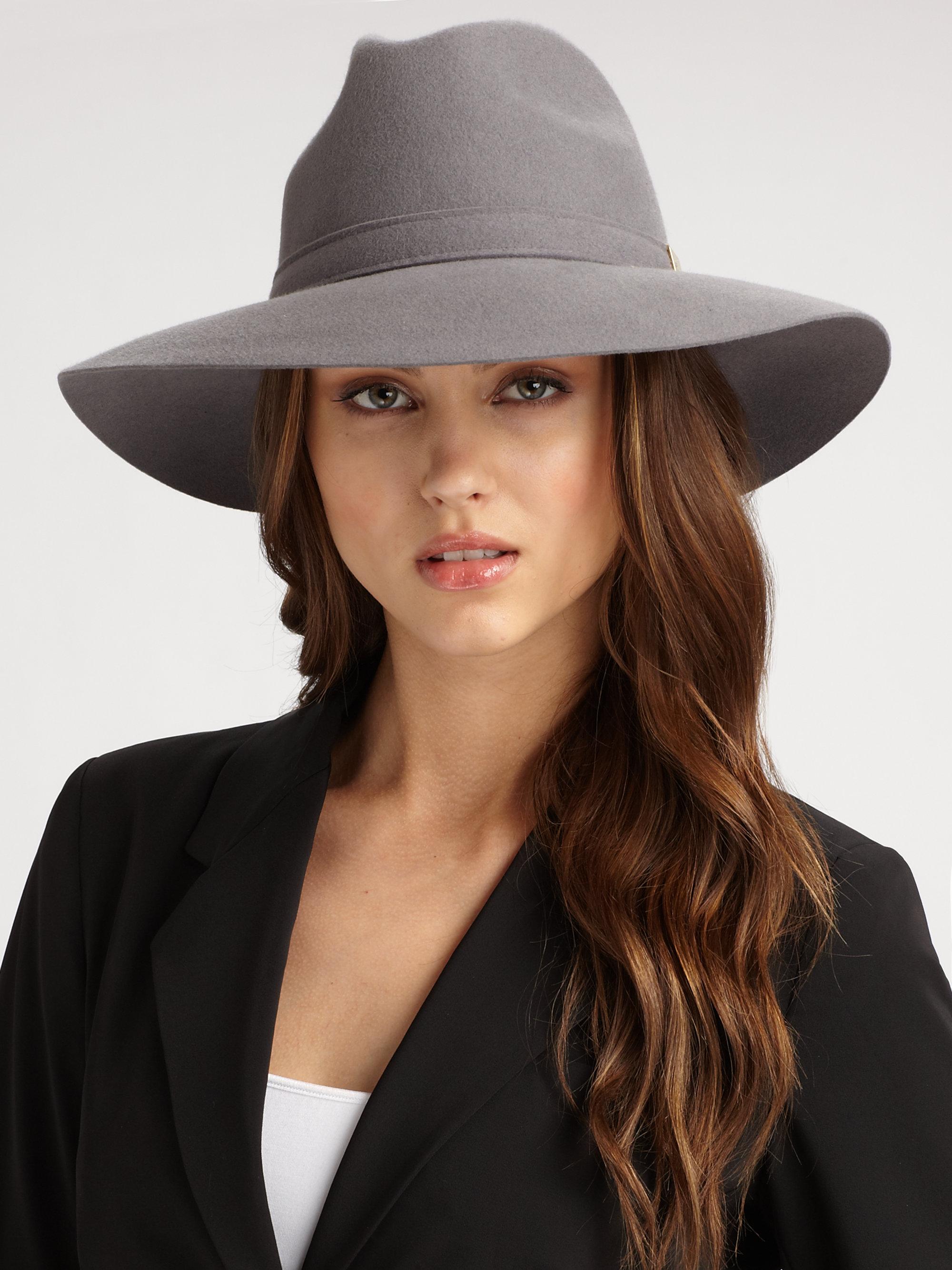 f66be9f15f7 Lyst - Gucci Trilby Floppy Hat in Black