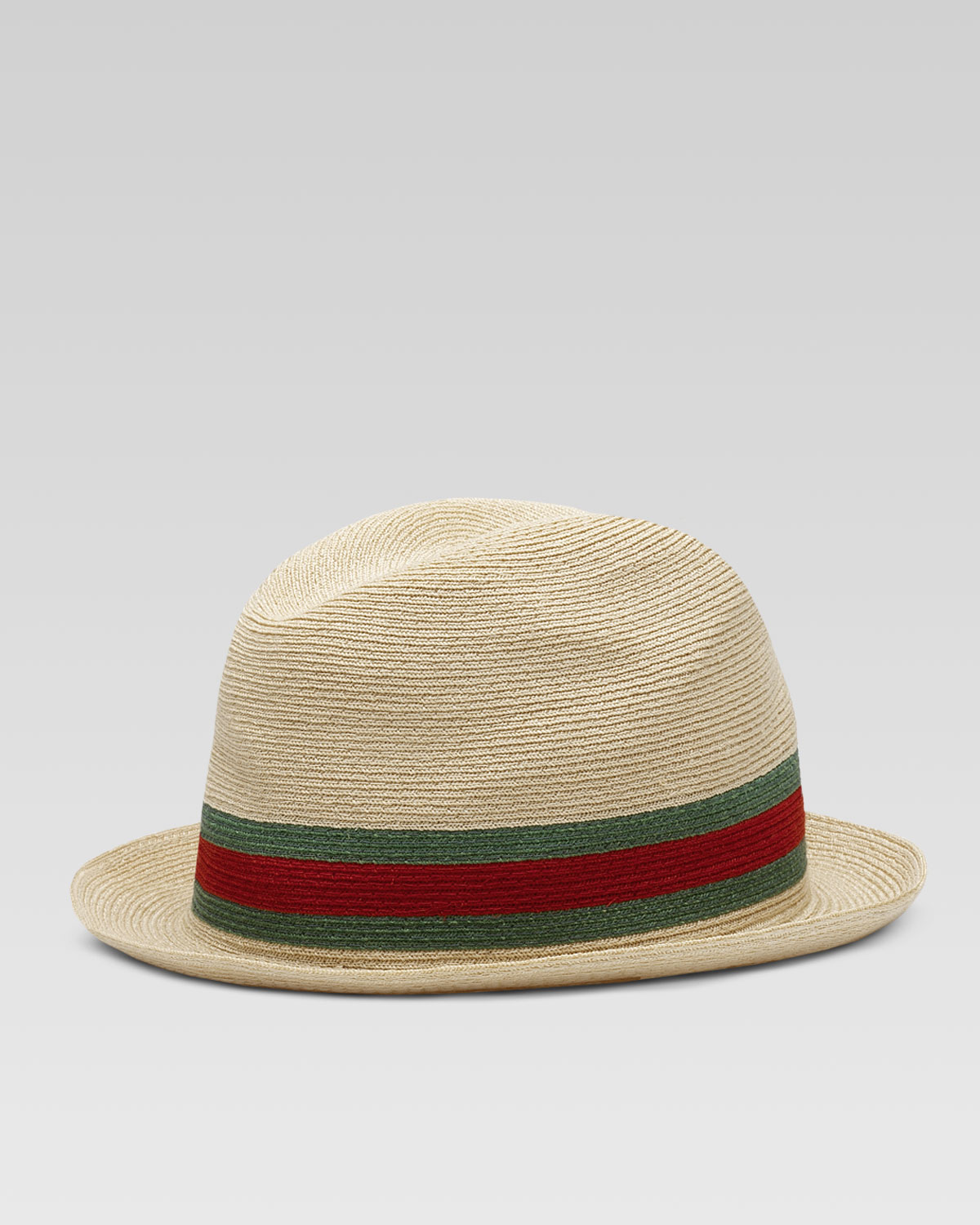 608ea64550d Lyst - Gucci Fedora Straw Hat in Natural for Men