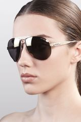 Jimmy Choo Dominique Aviator Sunglasses - Lyst