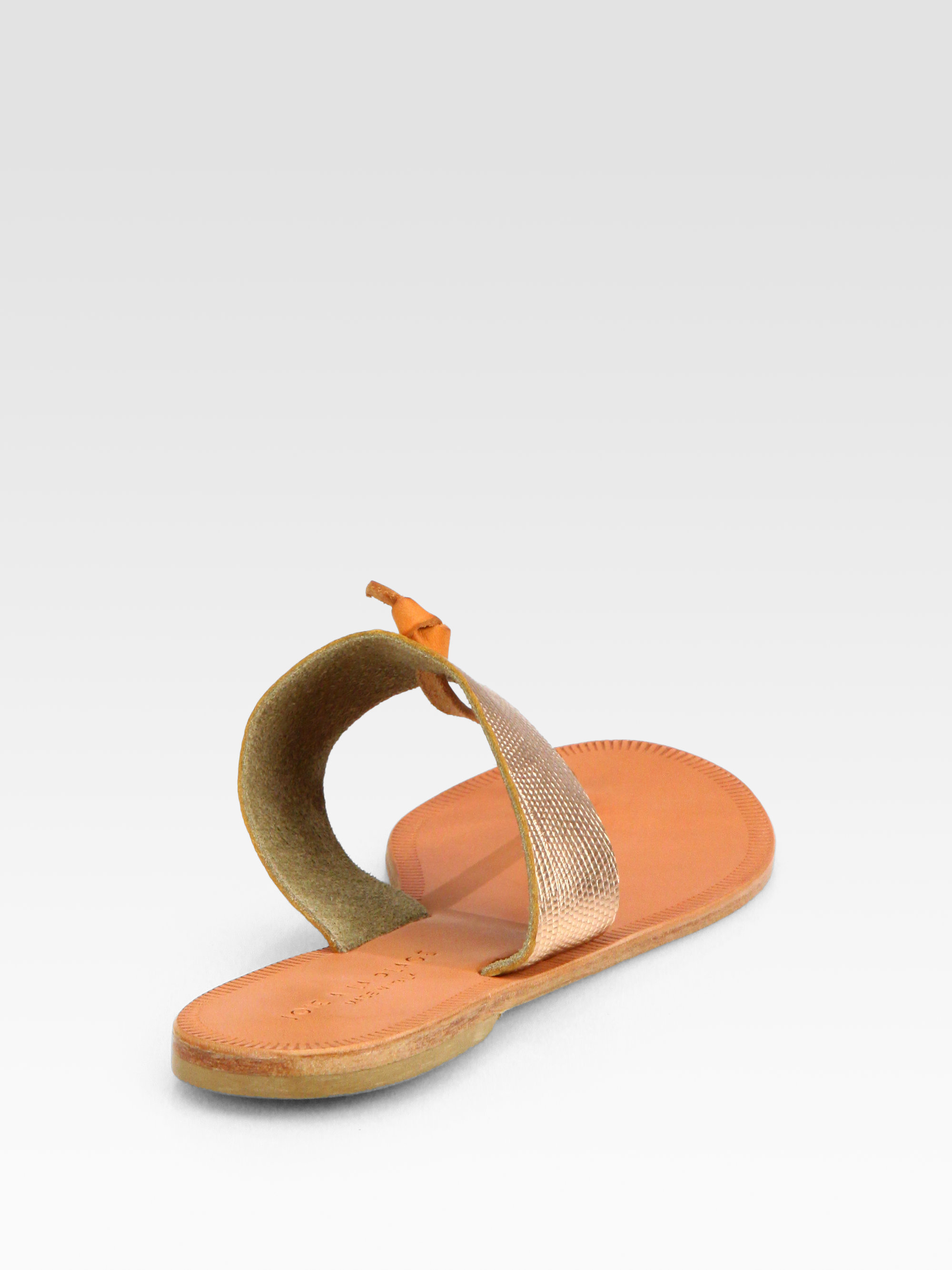 129f0dfd885 Lyst - Joie Nice Metallic Leather Thong Sandals in Metallic