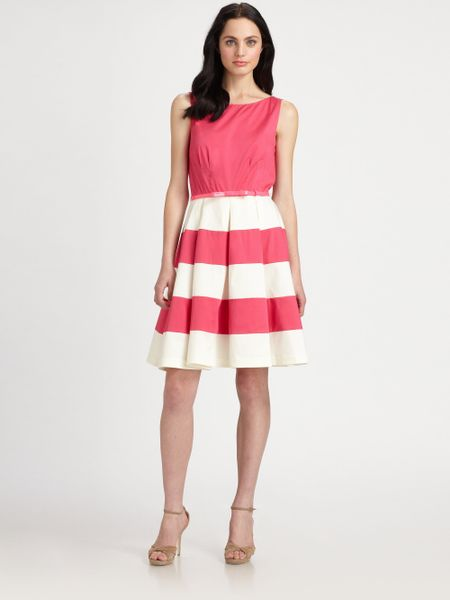 Kate Spade Celina Dress In Beige Zinia Pink Lyst