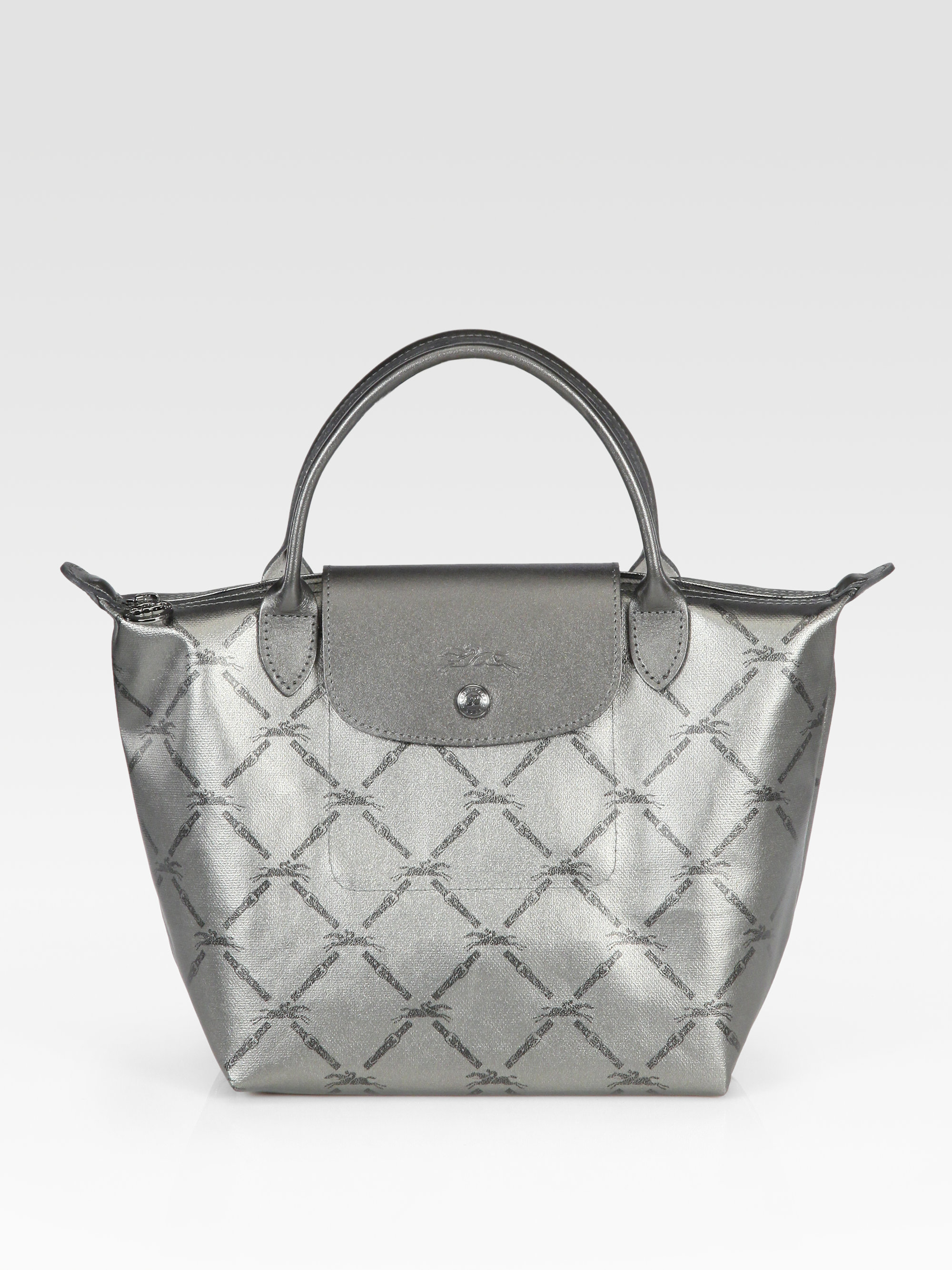 ac7c49814a8f Lyst - Longchamp Lm Metal Small Tote Bag in Gray
